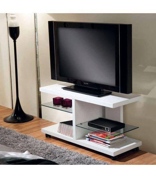 Mesa De Televisión Con Ruedas En Madera Blanca Modelo Torino Mueble Tv Con Ruedas Muebles Para Tv Modernos Muebles Para Pantallas