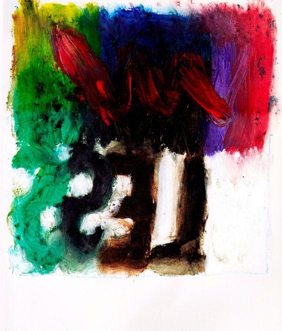 """Saatchi Online Artist: C P Seibt; Oil 2013 Painting """"ECHOS OF THE GUTENBERG GALAXY 50"""""""
