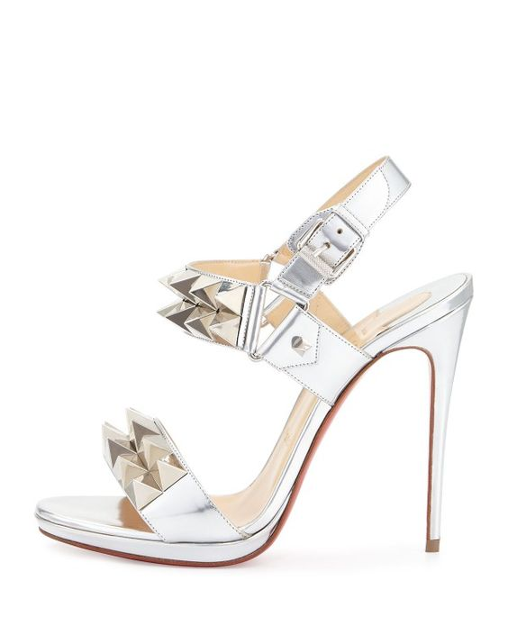 christian louboutin audrey strappy glitter red sole sandal
