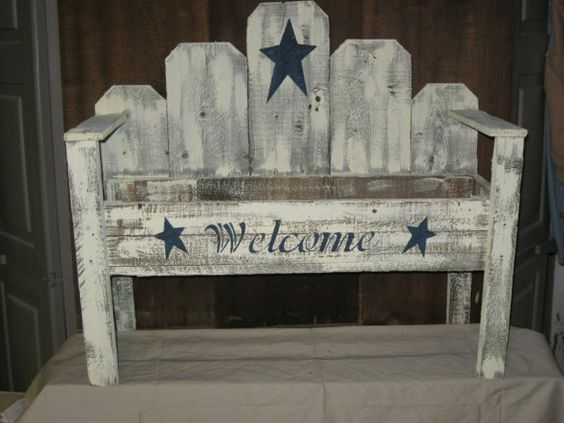 Primitive Country Flower Box Bench On Etsy 59 99