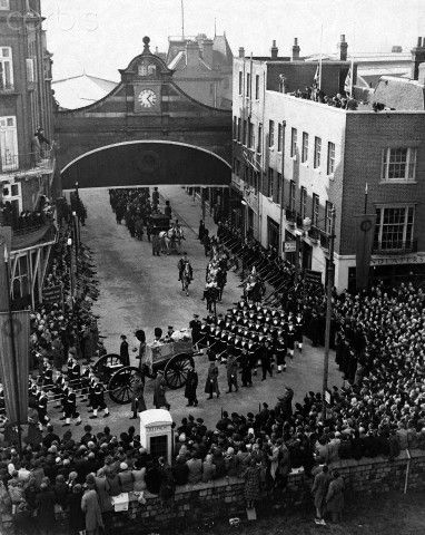King George Vi Funeral | King George VI Funeral Procession - HU040896 - Rights Managed - Stock ...
