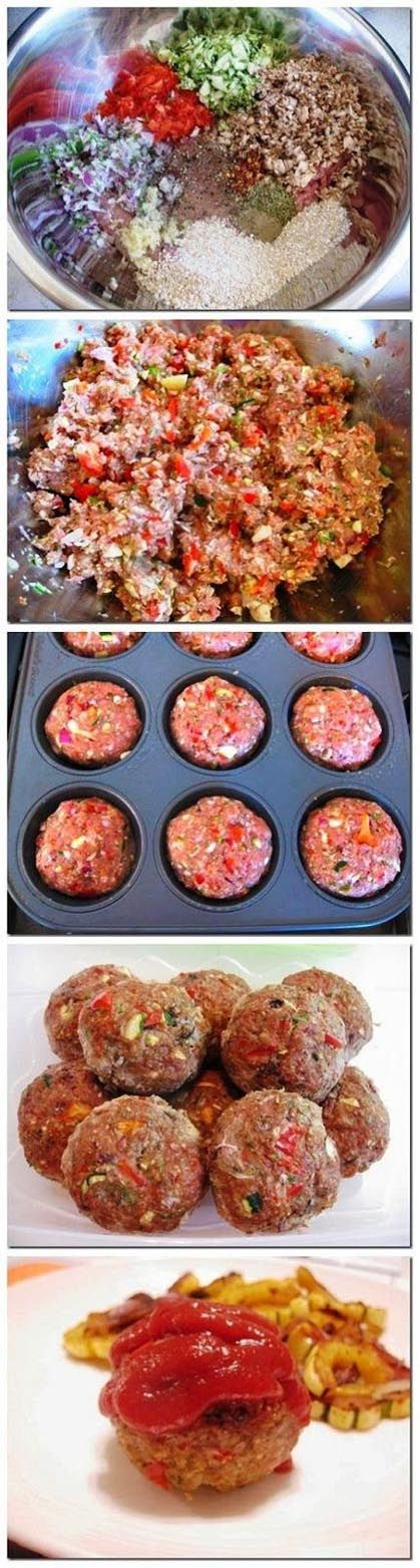 Easy Turkey Meatloaf Muffins   Recipe Knead-I will use almond meal or flax seed meal instead.