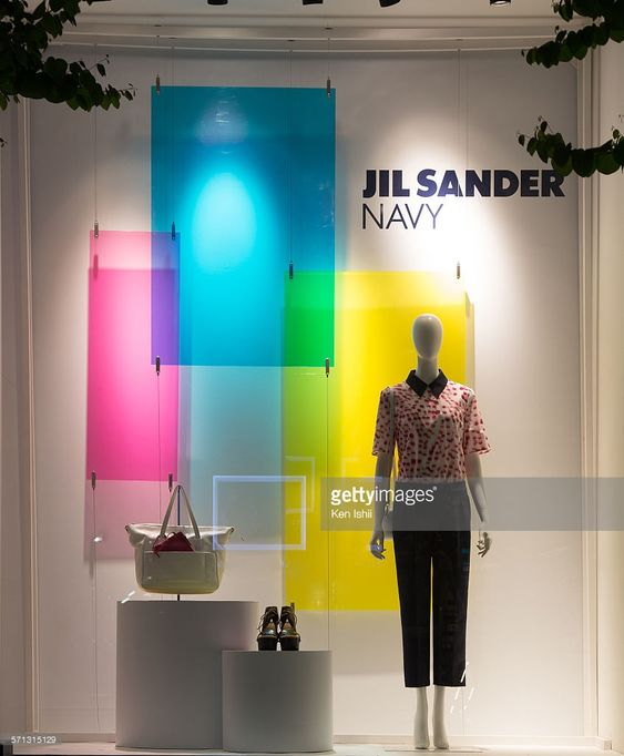 Jil Sander Navy - Tokyo, window display 2014 as Part of the World Fashion Window Displays on April 17, 2014 in Tokyo, Japan.: