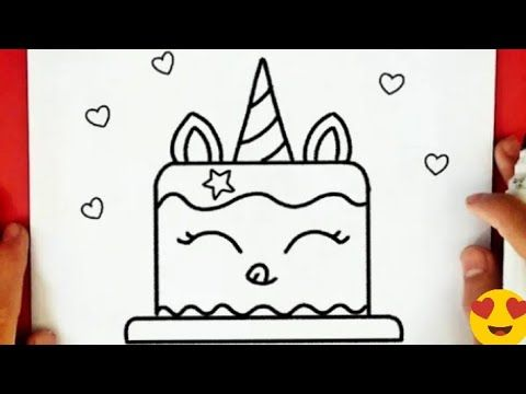 Cool Drawings How To Draw A Birthday Cake Unicorn Cute Drawings Butterfly Drawing Sketch Youtube In 2021 Butterfly Drawing Cool Drawings Drawing Sketches