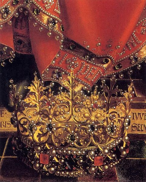 Jan van Eyck, Ghent Altarpiece: God Almighty (detail):