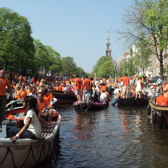 Q-day in Amsterdam...crazy & colourful people