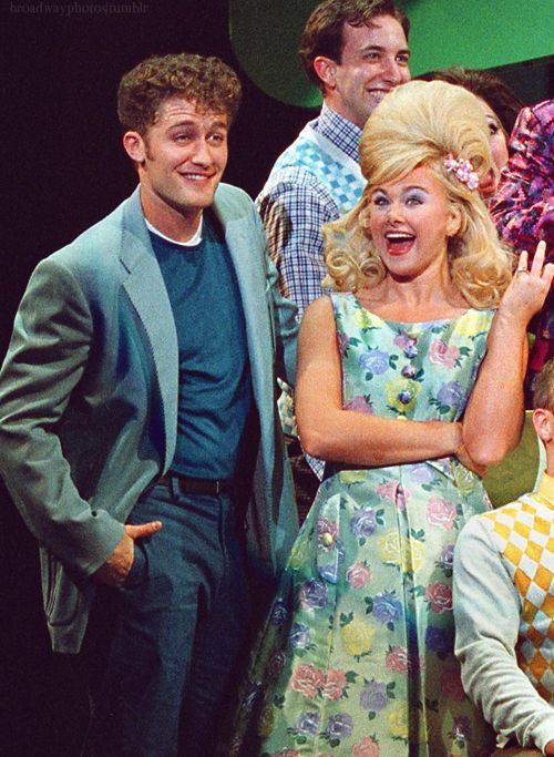 Oh my lord I just found this. Matthew Morrison (Glee) and Laura Bell Bundy ( Legally Blonde the Musical) in Hairspray as Amber and Link! Sooo much perfection!