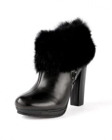 Just Cavalli 100% Leather Heel Booties