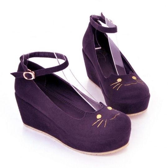 """Cute Cat Head Doll Shoes $30.00 enter the coupon code """"thingsfromjapan"""" to get 10% off http://thingsfromjapan.net/cute-cat-head-doll-shoes/ #cat shoes #kawaii Japanese shoes #Japanese fashion"""