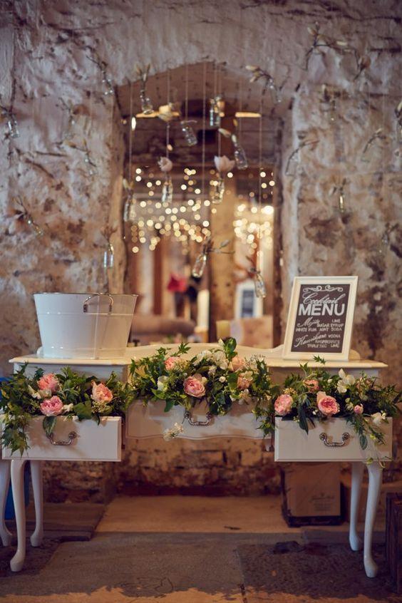 decoração casamento rústica e vintage