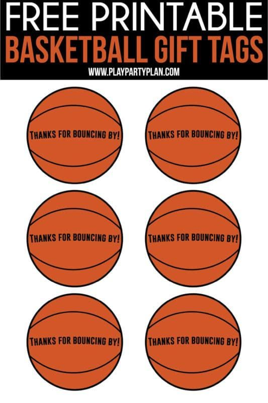Free Printable Basketball Party Favors That Aren T Just For Kids Diy These Cute Bags Yourself For Th Basketball Party Favors Basketball Party Basketball Gifts