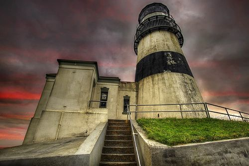 Cape Disappointment Lighthouse - Ilwaco, Washington. My favoritest place to be on all the earth.