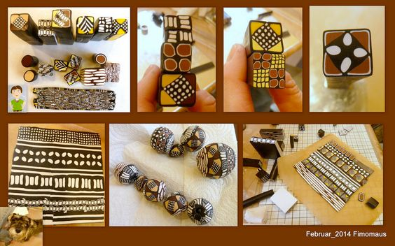 Samstagstreff - Thema Mud Cloth Inspired Necklace with Donna Kato