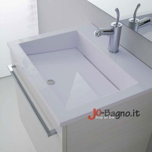 Base Lavabo 60x48 Zeus Bianco Rigato  Mobili bagno  Arredo Bagno  Jo Bagno.it  Lavanderia ...