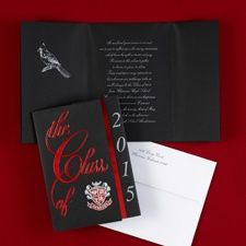 Largest Selection of  Red and Silver Class Colors Red Graduation Invitations. Item Number: GYG600