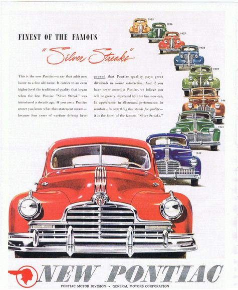On September 13, 1945, Pontiac built its first post-war model.