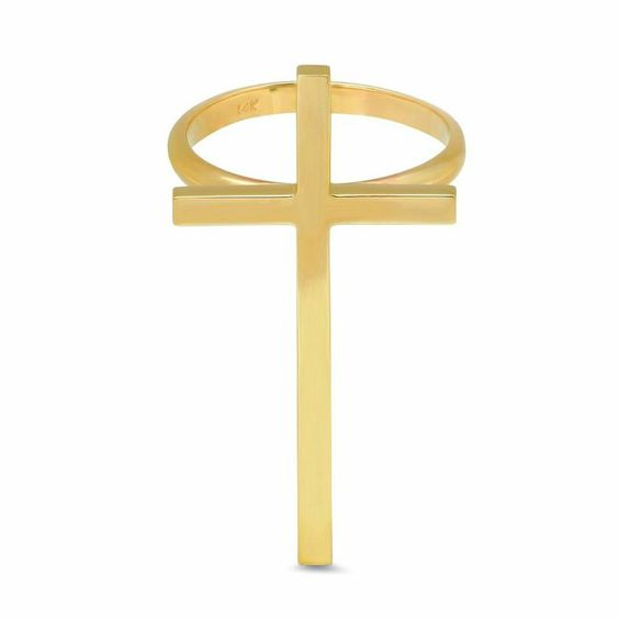 Cross Ring in 14k Yellow Gold