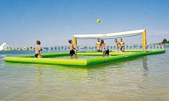 Floating beach volleyball! Want! NEED!
