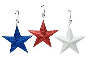 One Kings Lane - Old Glory - S/12 Patriotic Star Ornaments