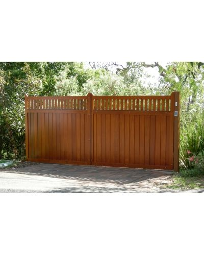 Bespoke we and garage on pinterest for Wooden sliding driveway gates