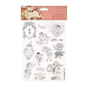 A5 Clear Stamps Set (14pcs) - Victorian Valentine