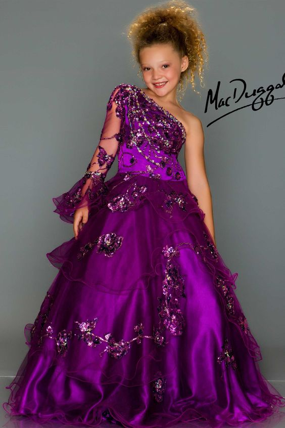 Purple Little Girls Pageant Dress - kids - Pinterest - Girls ...