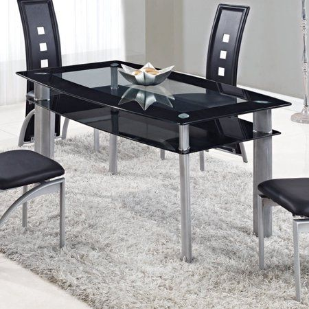 Global Furniture Usa D1058ndt M High Gloss Dining Table Black