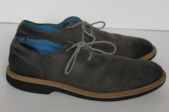 Penguin by Munsingwear Mens Gray Distressed Waxy Suede Loafers Shoes size 10 #Penguin #Oxfords