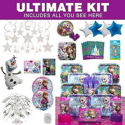 Frozen Birthday Party Ultimate Tableware Kit Each - Party Supplies