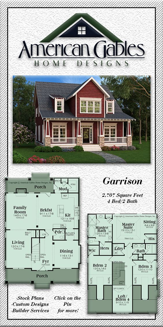 Narrow Lot Plan 2707 Square Feet 4 Bedrooms 2 Bathrooms Garrison Square House Plans Bungalow Style House Plans House Plans