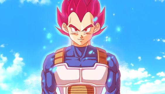 Super saiyan God Vegeta by GoddessMechanic2