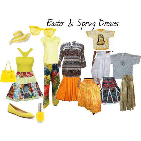 Easter & Spring Dresses by mogulinteriordesigns on Polyvore featuring Comptoir Des Cotonniers, Joe's Jeans, Diane Von Furstenberg, Sunpocket and Dorothy Perkins