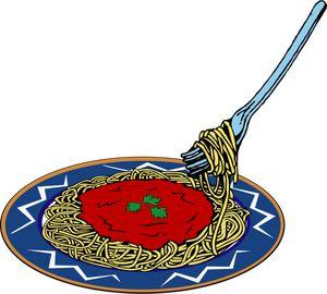 vectorielle de spaghettis dans une assiette illustration des. Black Bedroom Furniture Sets. Home Design Ideas