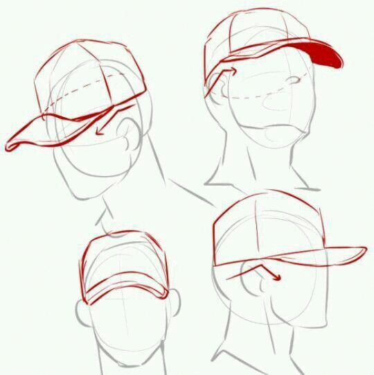 Baseball Cap Reference Hat How To Draw The Batter Male Baseballreference Drawings Drawing Tutorial Art Reference