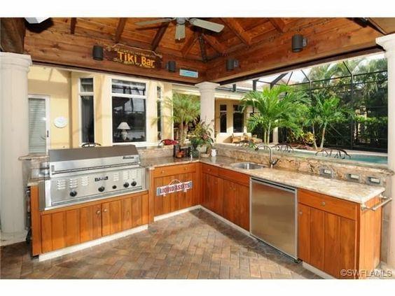 Tiki Bar   Outdoor Kitchen in Mediterra, Naples, FL