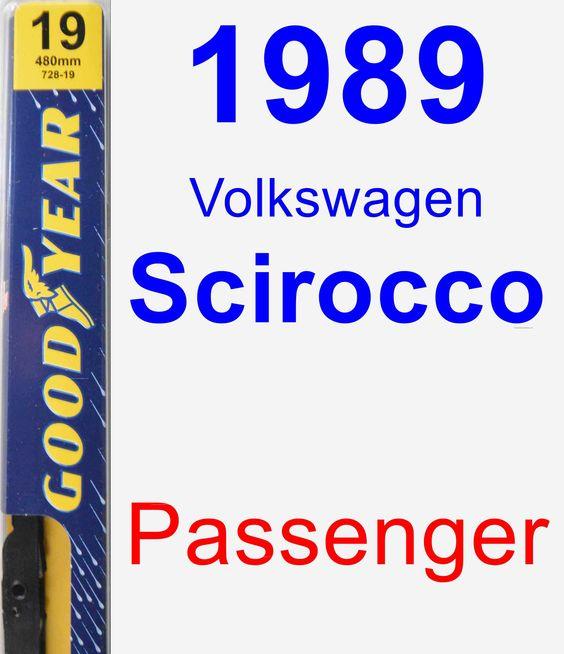 Passenger Wiper Blade for 1989 Volkswagen Scirocco - Premium