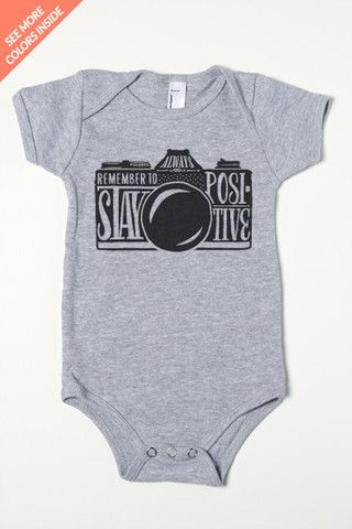 Stay Positive camera Baby One-Piece
