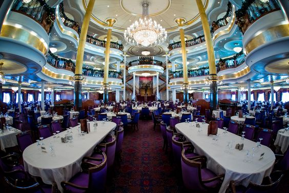Adventure of the Seas Main Dining Room.