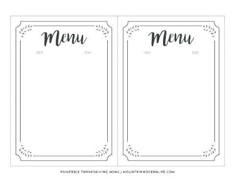 Free Blank Menu Templates Images Of Fun For Printable Dinner Throughout Blank Menu Template Printable Menu Template Free Printable Menu Template Printable Menu
