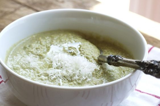 fava bean soup (made with fresh fava beans and homemade chicken stock)