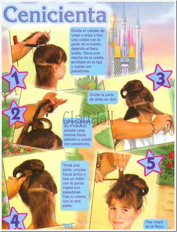 Tutorial para hacer peinado de Cenicienta. | Ideas y material gratis para…