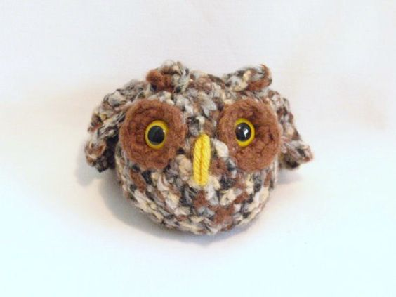 FRECKLES the Owl. . . crocheted with Bamboo Yarn