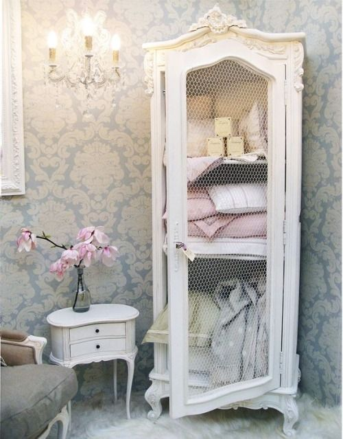 would absolutely love this french style vintage chic armoire style cabinet for my bedroom! for more like see www.melodymaison.co.uk