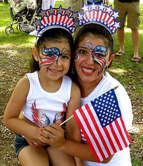 Fourth of July Face Painting: