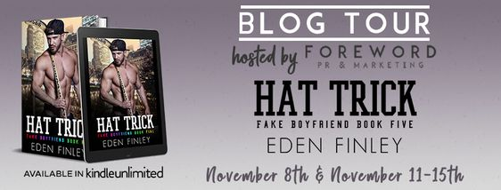 ~Blog Tour~Hat Trick (Fake Boyfriend #5) by Eden Finley~Review & Giveaway~