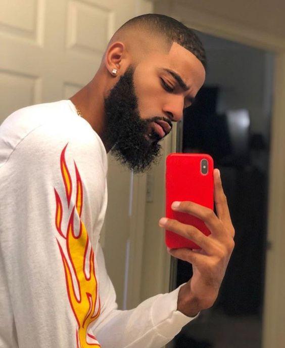 high fade haircut black men