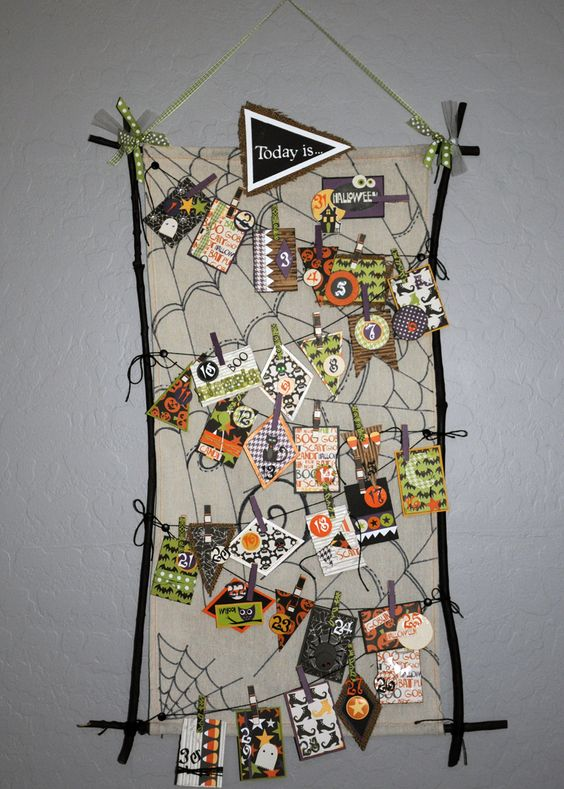 Halloween Countdown Calendar...with love from Cat