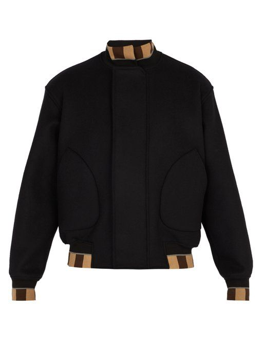 Fendi Wool blend bomber jacket in 2019 | Jackets, Bomber