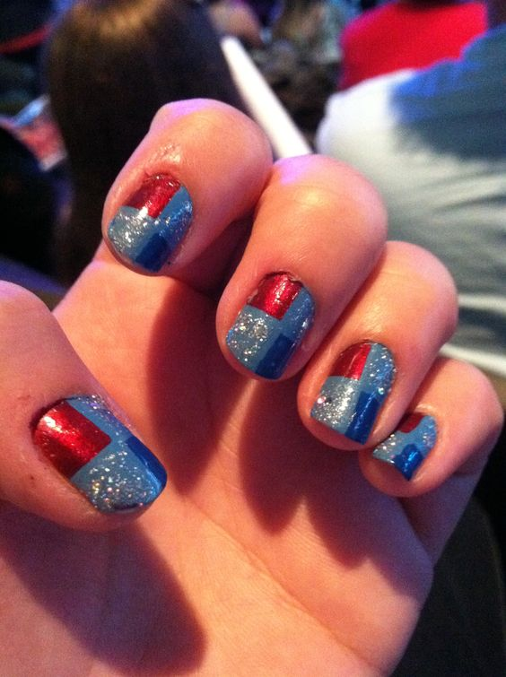My America nails for the US Olympic gymnastic tour!
