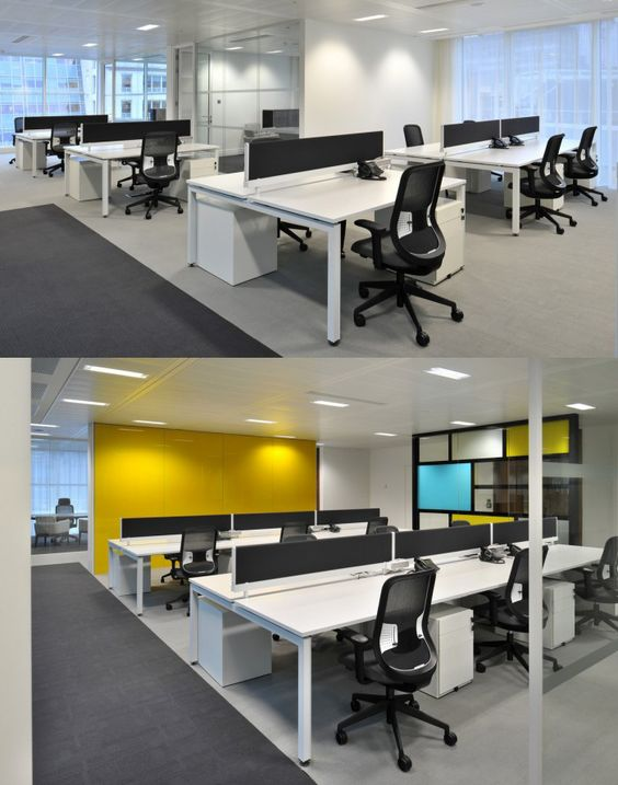 White work surface for Open Plan Office! openplanoffice